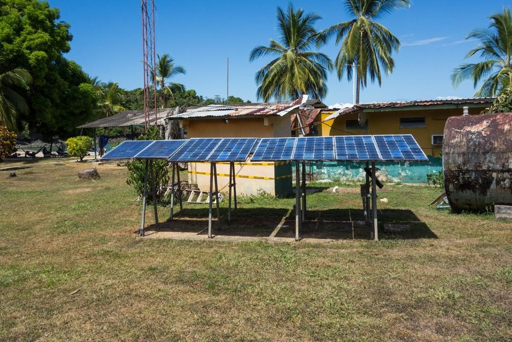 pannelli solari su Isla Coiba
