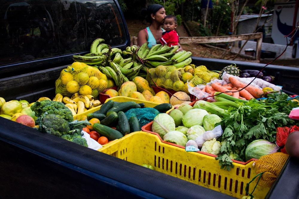 Carro della frutta e verdura