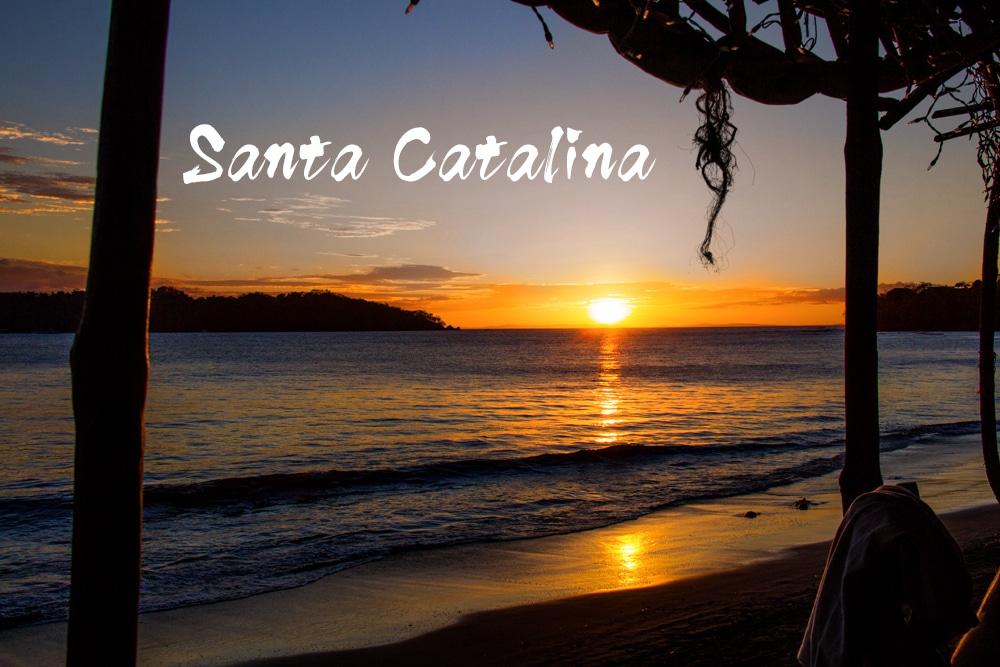 Il tramonto da Playa Santa Catalina