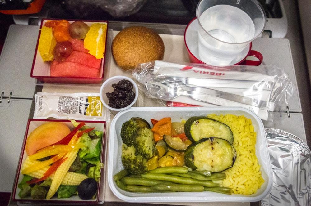 Pasto vegano sul volo Iberia