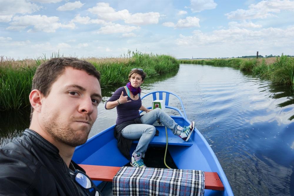 In barca per i canali