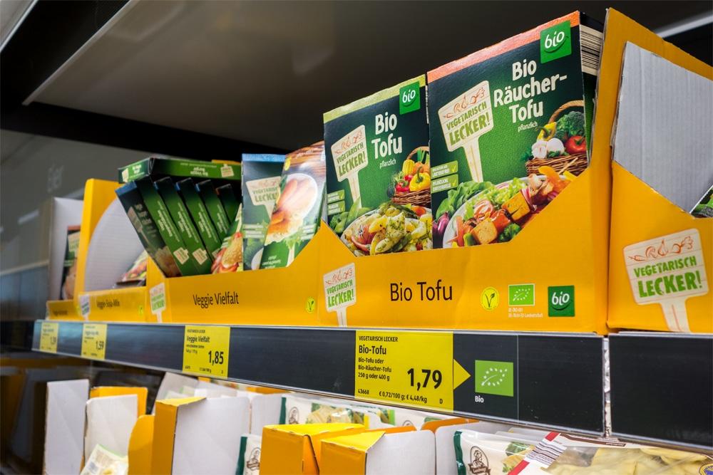 Reparto vegan al supermercato