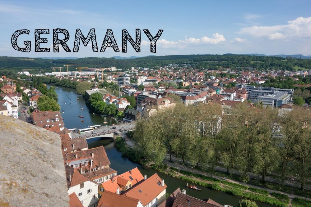 Tübingen dall'alto