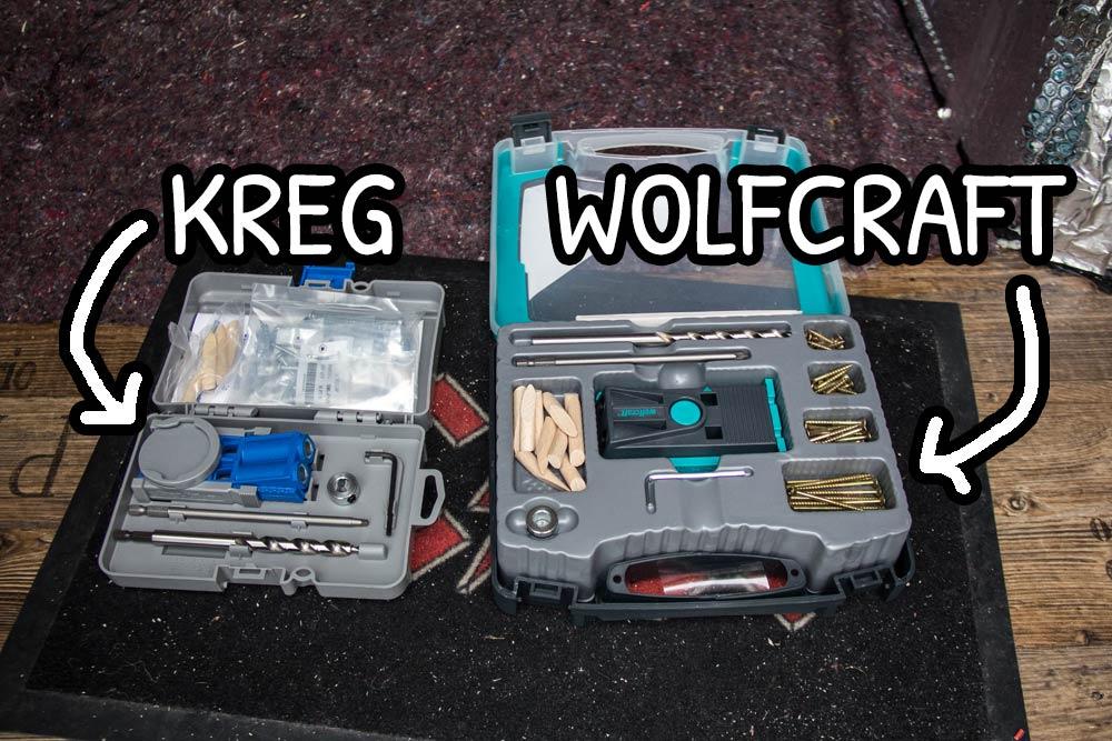 Kit pocket hole della Kreg e della Wolfcraft