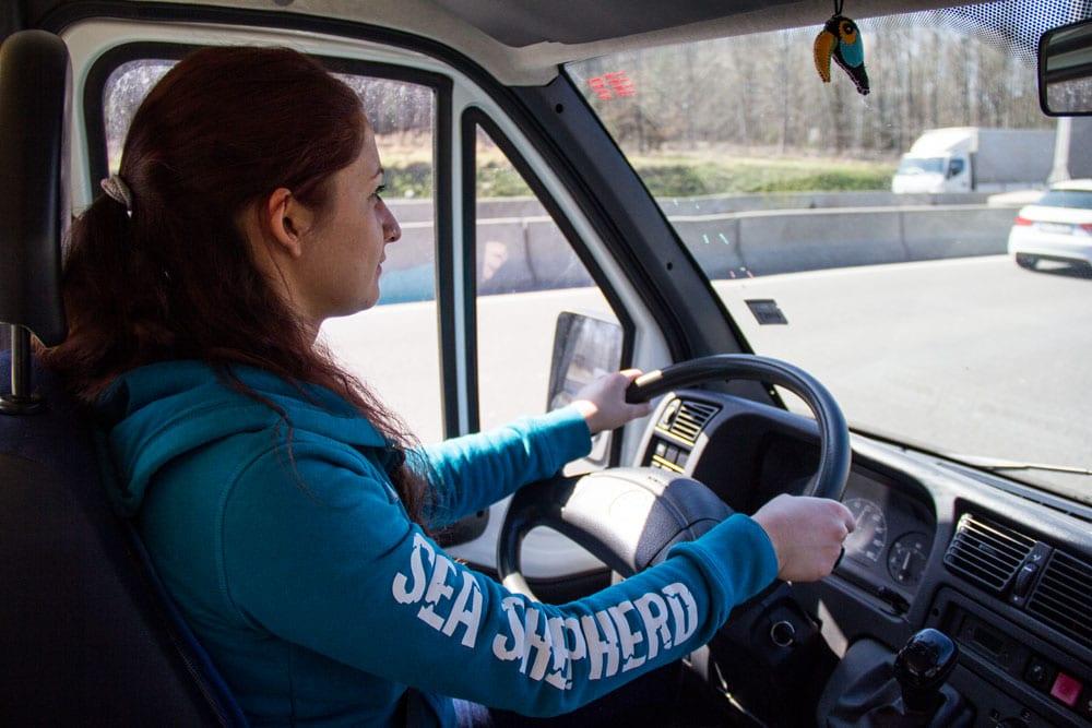 Giulia al volante del Ducato