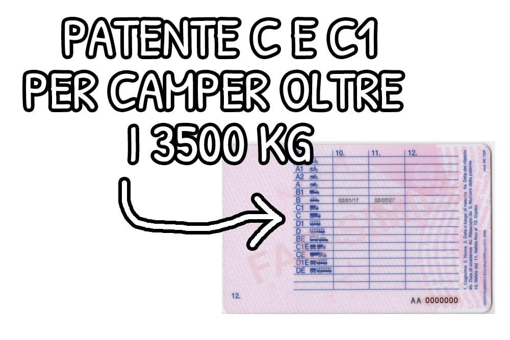 Patente per camper C e C1Patente per camper C e C1